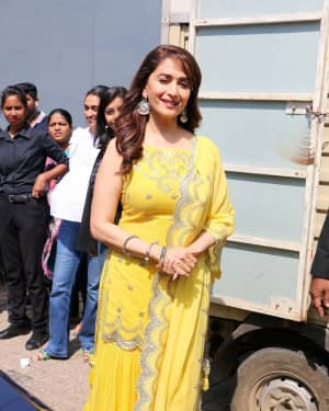 Madhuri Dixit - Photos: Trailer launch of film Kalank at PVR
