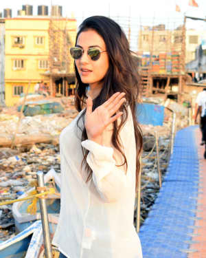Photos: Sonal Chauhan Spotted at Versova Jetty