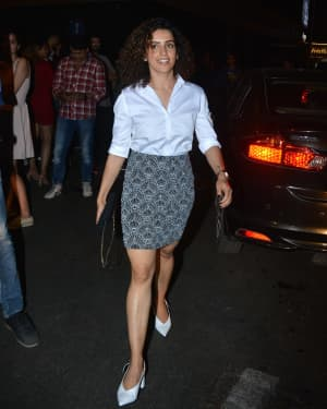 Photos: Sanya Malhotra Spotted at Esco Bandra