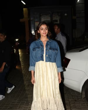 Alia Bhatt - Photos: Screening of Film Kalank at Pvr Juhu