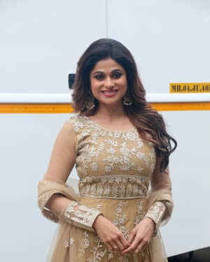 Photos: Shamita Shetty On Location Shoot At Goregaon