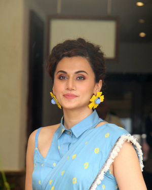 Taapsee Pannu - Photos: Media Interactions For The Film Mission Mangal At Sun N Sand