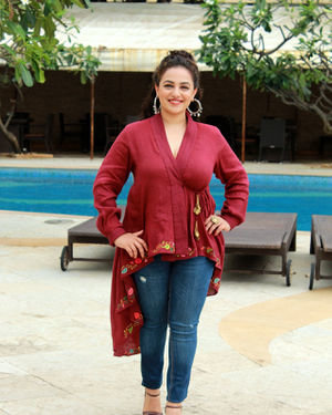 Nithya Menon - Photos: Promotion Of Film Mission Mangal At Sun N Sand