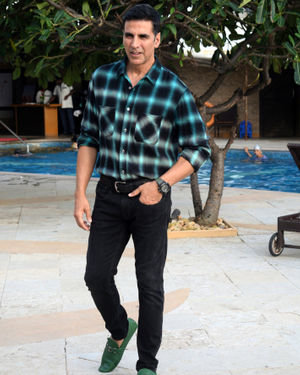 Akshay Kumar - Photos: Media Interactions For The Film Mission Mangal At Sun N Sand