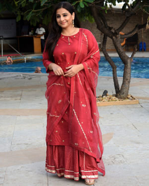Vidya Balan - Photos: Media Interactions For The Film Mission Mangal At Sun N Sand