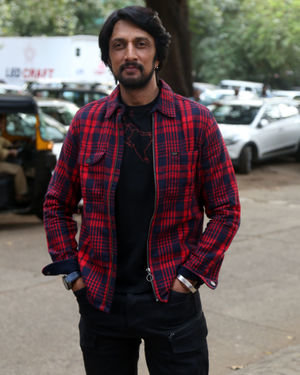 Kichcha Sudeep - Photos: Promotion Of Film Dabangg 3 At Mehboob Studio