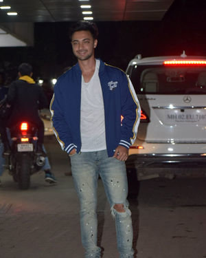 Aayush Sharma - Photos: Sohail Khan's Birthday Party At His Home In Bandra