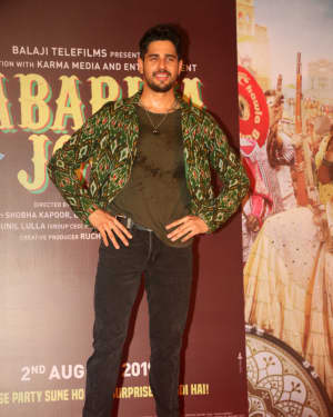 Sidharth Malhotra - Photos: The Song Launch Of Up Hile Zilla Hile From Film Jabariya Jodi