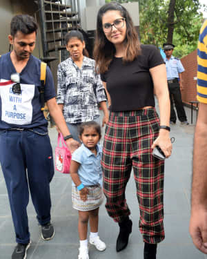 Photos: Sunny Leone With Kids Spotted At Play School