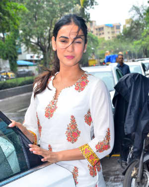 Photos: Sonal Chauhan Spotted At Mukesh Chabra's Office In Juhu