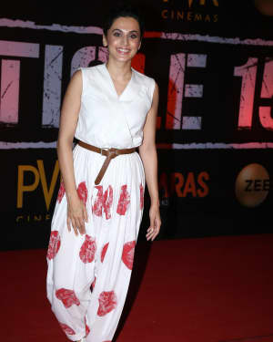 Taapsee Pannu - Photos: Screening Of Film Article 15 At Pvr Icon