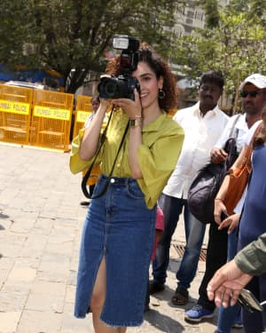 Sanya Malhotra - Photos: Promotion Of Film Photograph at Gateway Of India