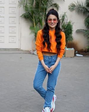 Radhika Madan - Photos: Mard Ko Dard Nahi Hota Cast at Mehboob Studio