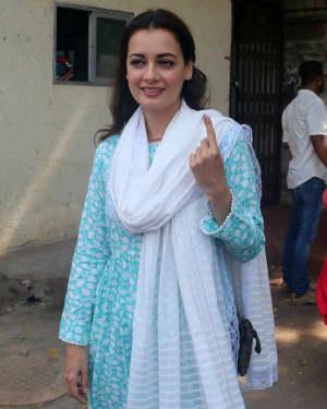 Dia Mirza - Photos: Celebs Voting For 2019 Election