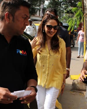 Madhuri Dixit - Photos: Celebs Voting For 2019 Election