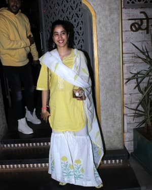 Jahnavi Kapoor - Photos: Celebs Spotted At Bayroute In Juhu