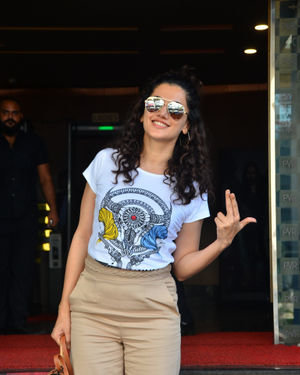 Photos: Taapsee Pannu Spotted At Pvr Ecx