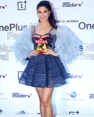 Jacqueline Fernandez - Photos: Press Conference Of One Plus Music Concert At St Regis