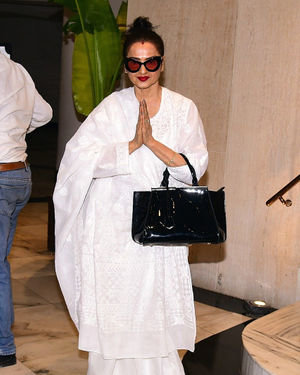 Rekha - Photos: Celebs at Manish Malhotra's House