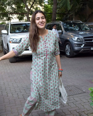 Photos: Sara Ali Khan Spotted At Anand L Rai Office