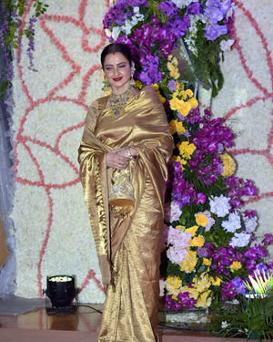 Rekha - Photos: Wedding Reception Of Sooraj Barjatya's Son Devansh At Jw Marriott Juhu | Picture 1703052