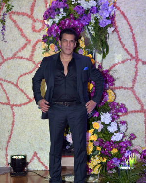 Salman Khan - Photos: Wedding Reception Of Sooraj Barjatya's Son Devansh At Jw Marriott Juhu