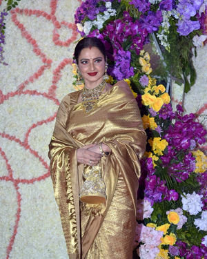 Rekha - Photos: Wedding Reception Of Sooraj Barjatya's Son Devansh At Jw Marriott Juhu | Picture 1703051