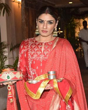 Raveena Tandon - Photos: Celebs At Celebration Of Karvachauth At Anil Kapoor's House