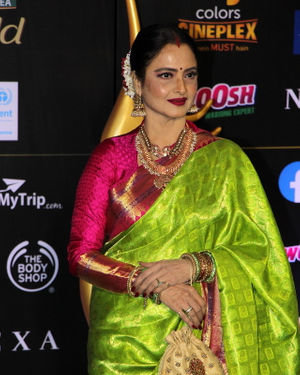 Rekha - Photos: Celebs At The Green Carpet Of The IIFA Rocks 2019 | Picture 1683557