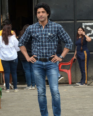 Farhan Akhtar - Photos: Promotion Of Film Sky Is Pink At Filmcity In Goregaon   Picture 1686529