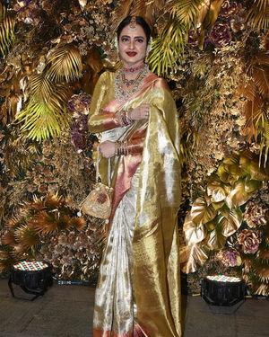 Rekha - Photos: Armaan Jain And Anissa Malhotra Wedding Reception In Mumbai   Picture 1719726