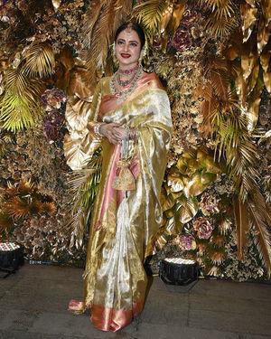 Rekha - Photos: Armaan Jain And Anissa Malhotra Wedding Reception In Mumbai | Picture 1719728