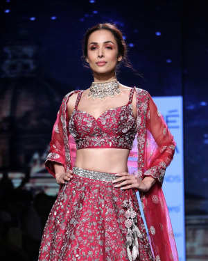 Photos: Malaika Arora Walks For Varun Chakkilam At LFW 2020