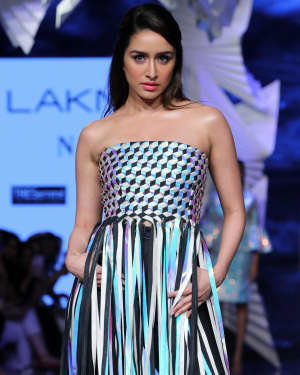 Photos: Shraddha Kapoor Walks For Rielan By Pankaj And Nidhi At LFW 2020