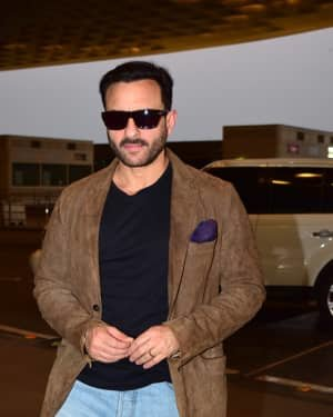 Saif Ali Khan - Photos: Bunty Aur Babli 2 Cast Snapped At Airport