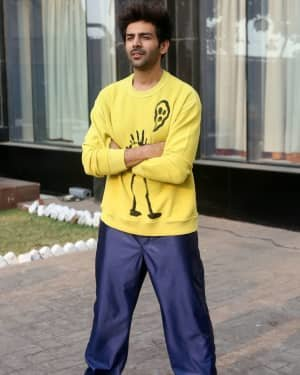 Kartik Aaryan - Photos: Promotion Of Love Aaj Kal 2 At Novotel Juhu