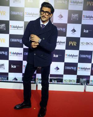 Ranveer Singh - Photos:  Screening Of Film Chhapaak At Pvr Lower Parel | Picture 1713576