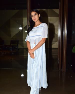 Sara Ali Khan - Photos: Coolie No 1 Wrap Up Party At Jackky Bhagnani's House