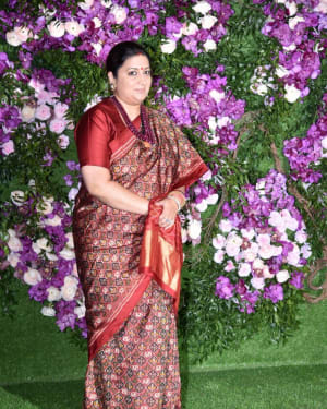 Smriti Irani - Photos: Akash Ambani & Shloka Mehta Wedding at Jio World Centre