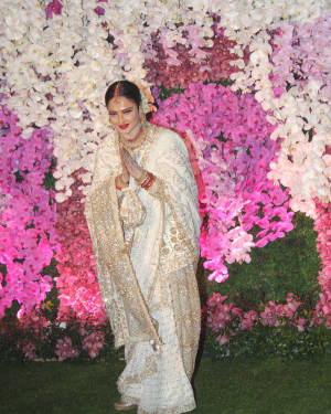 Rekha - Photos: Akash Ambani & Shloka Mehta Wedding at Jio World Centre