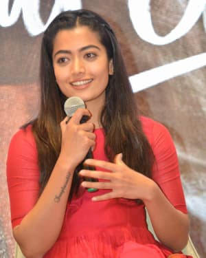 Rashmika Mandanna - Dear Comrade Kannada Film Press Meet Photos