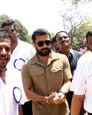 Surya Sivakumar - Nadigar Sangam Election 2019 Photos