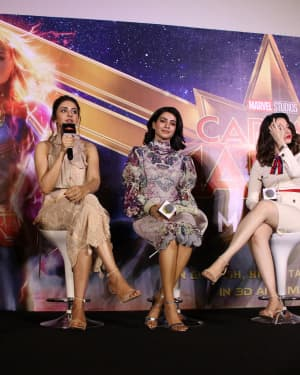 Captain Marvel Press Meet Photos