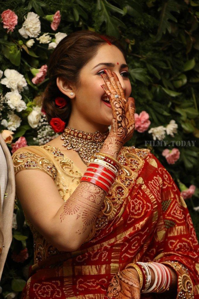 Sayyeshaa Saigal - Arya And Sayesha Saigal Wedding Reception Photos   Picture 1635873