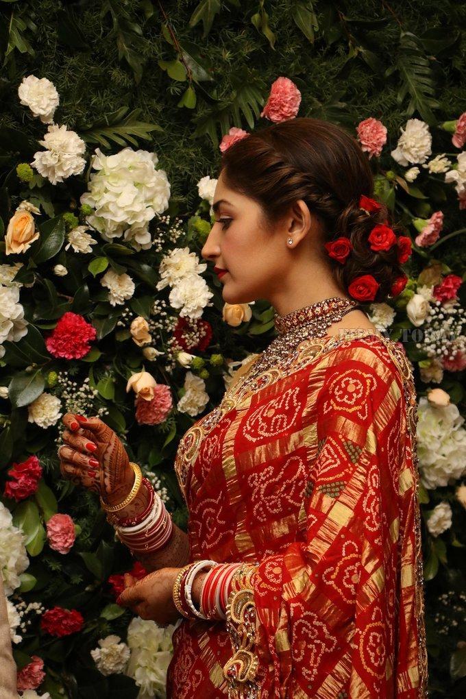 Sayyeshaa Saigal - Arya And Sayesha Saigal Wedding Reception Photos | Picture 1635878