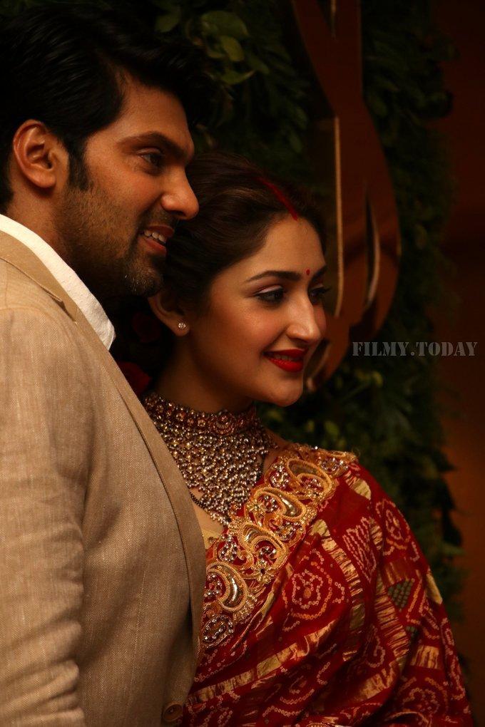 Arya And Sayesha Saigal Wedding Reception Photos | Picture 1635864
