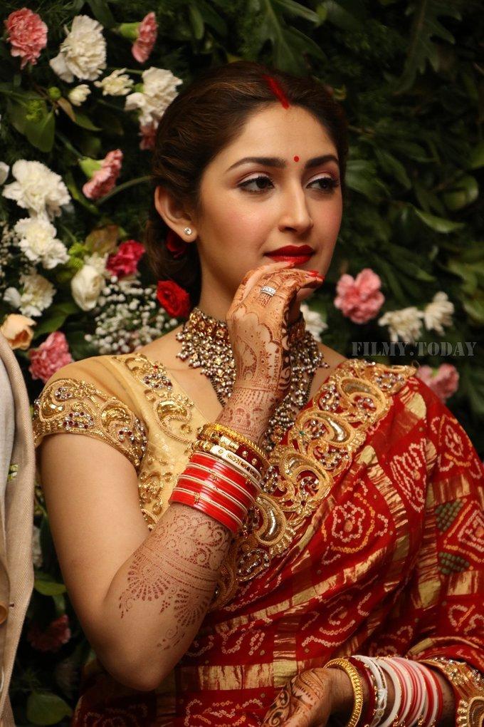 Sayyeshaa Saigal - Arya And Sayesha Saigal Wedding Reception Photos   Picture 1635871