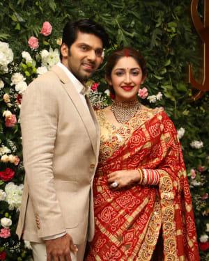 Arya And Sayesha Saigal Wedding Reception Photos | Picture 1635868