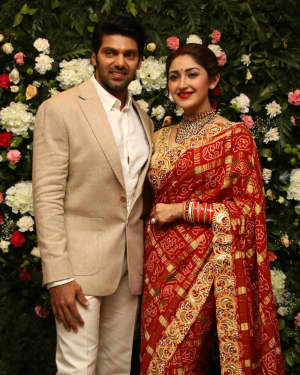Arya And Sayesha Saigal Wedding Reception Photos | Picture 1635862