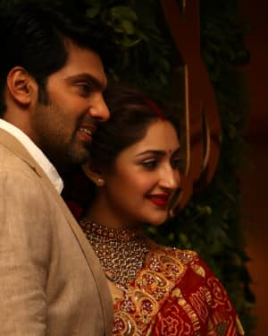 Arya And Sayesha Saigal Wedding Reception Photos